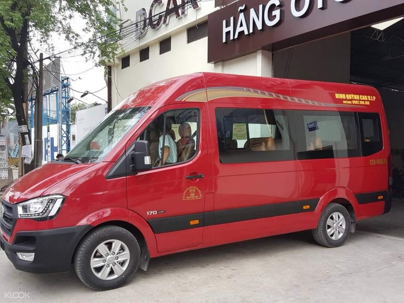 red limousine in vietnam