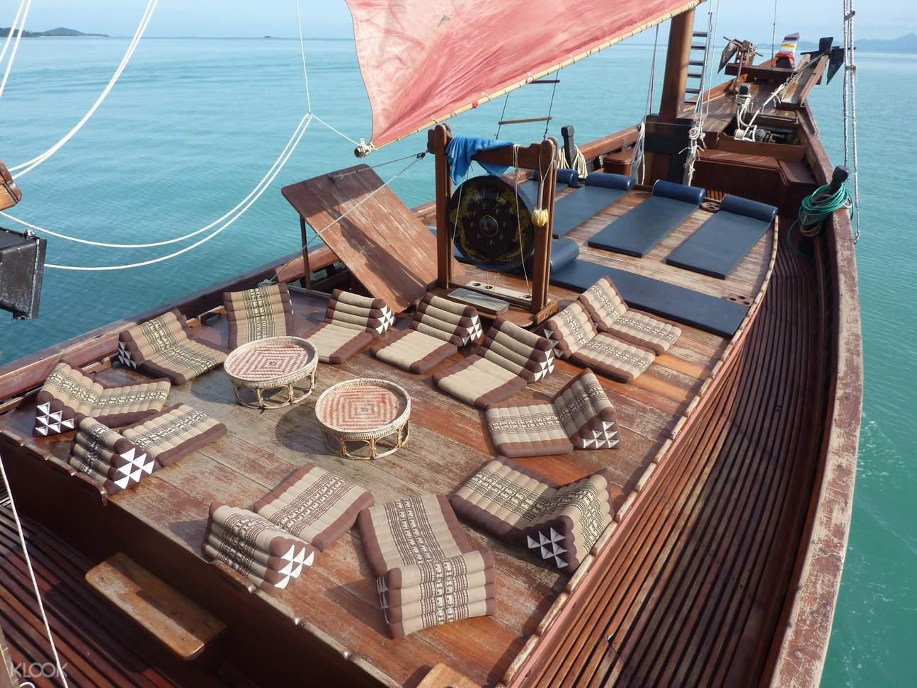 koh pha-ngan day tour junk boat
