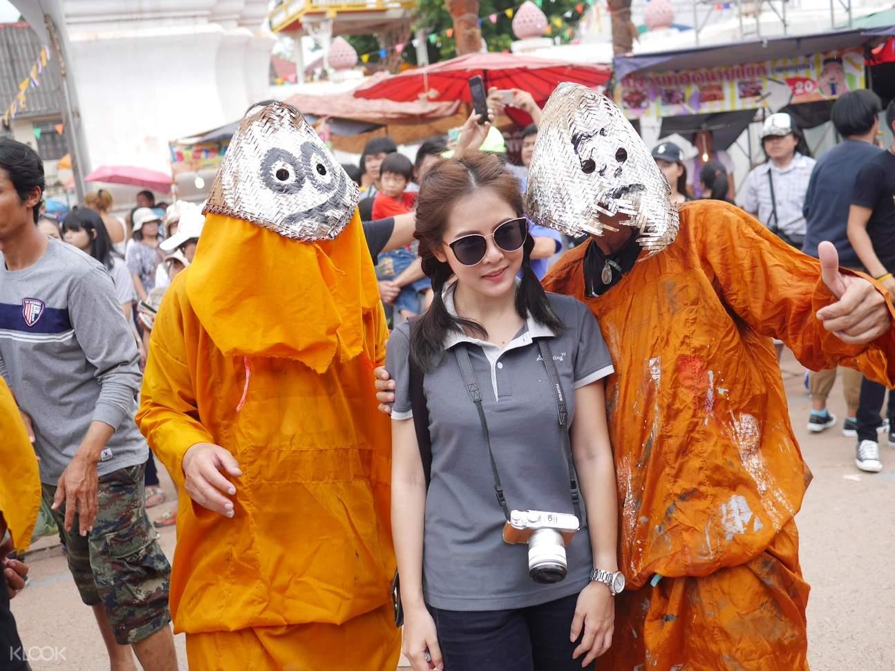 Phi Tha Khon Festival with Tourist