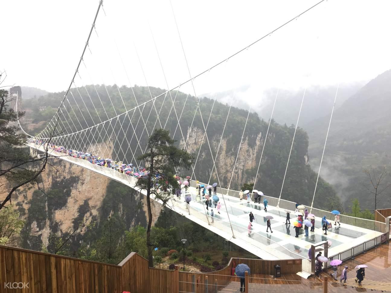 張家界大峽谷玻璃吊橋
