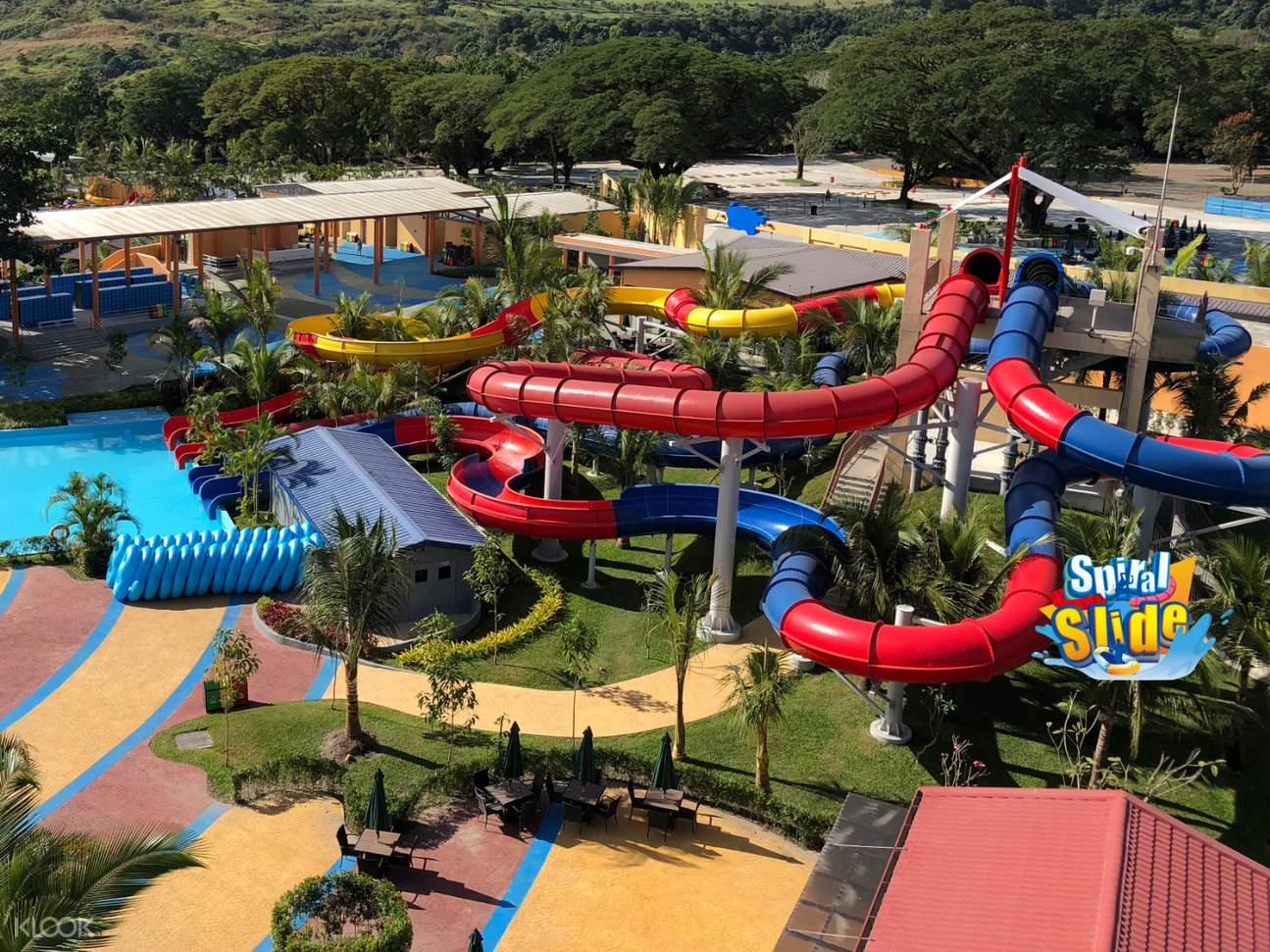 spiral slides at aqua planet waterpark