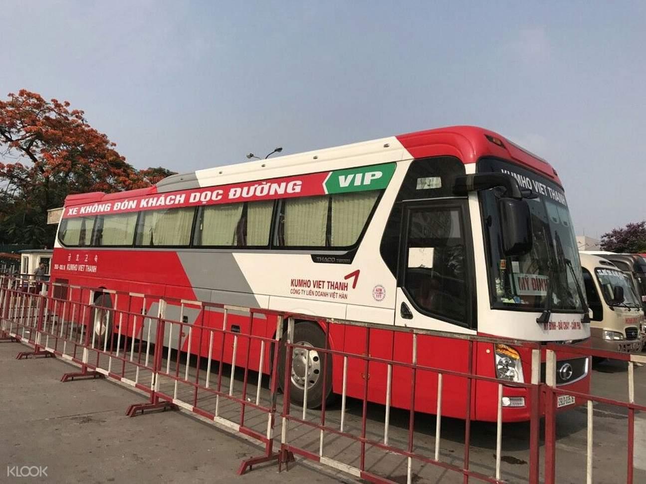 tourist bus in vietnam