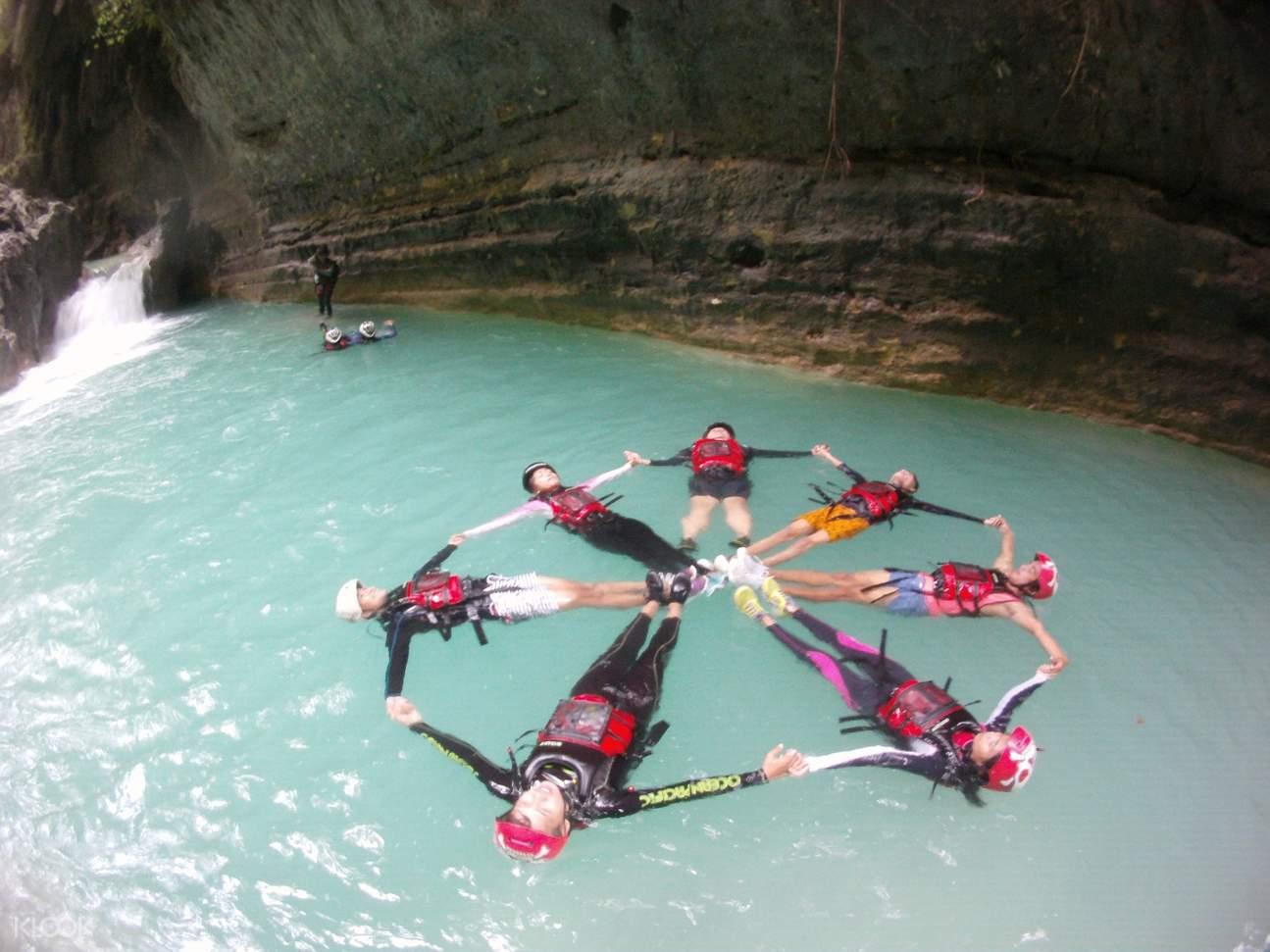 Group Photo at Badian Canyoneering Adventure and Kawasan Waterfalls Join In Tour from Cebu