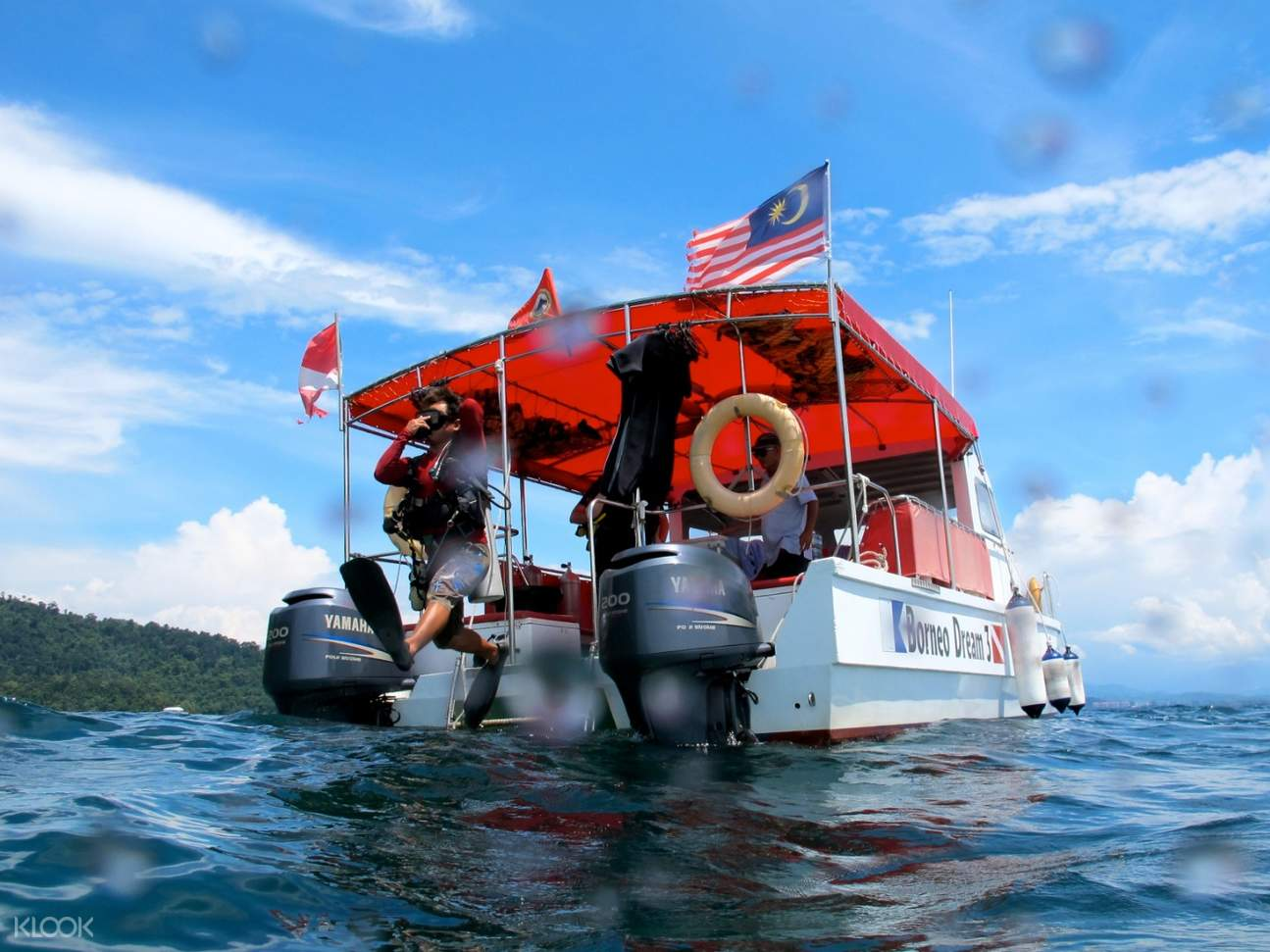 boat with malaysian flag