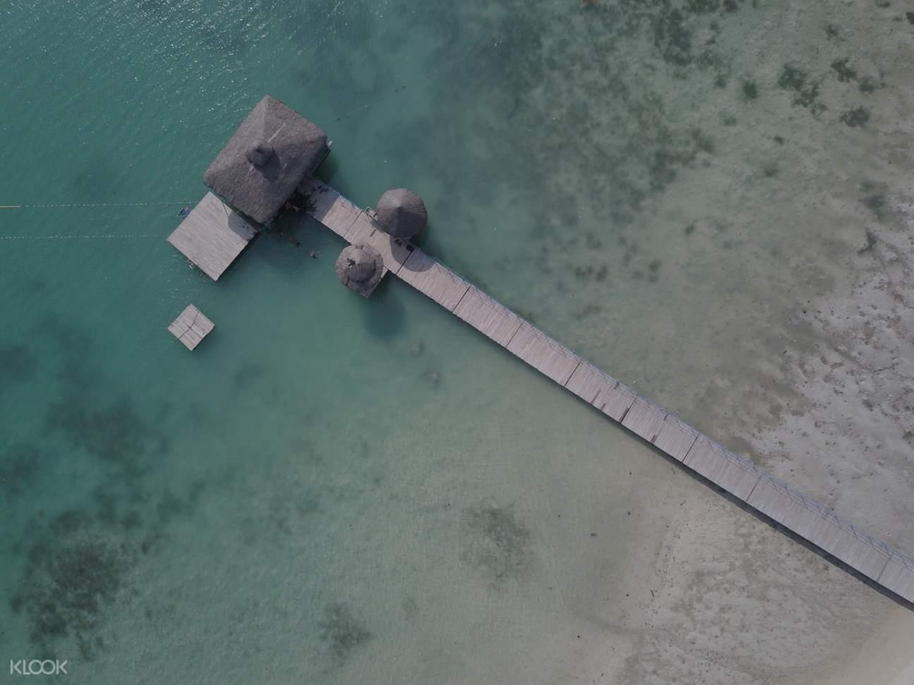 samal island pier from above