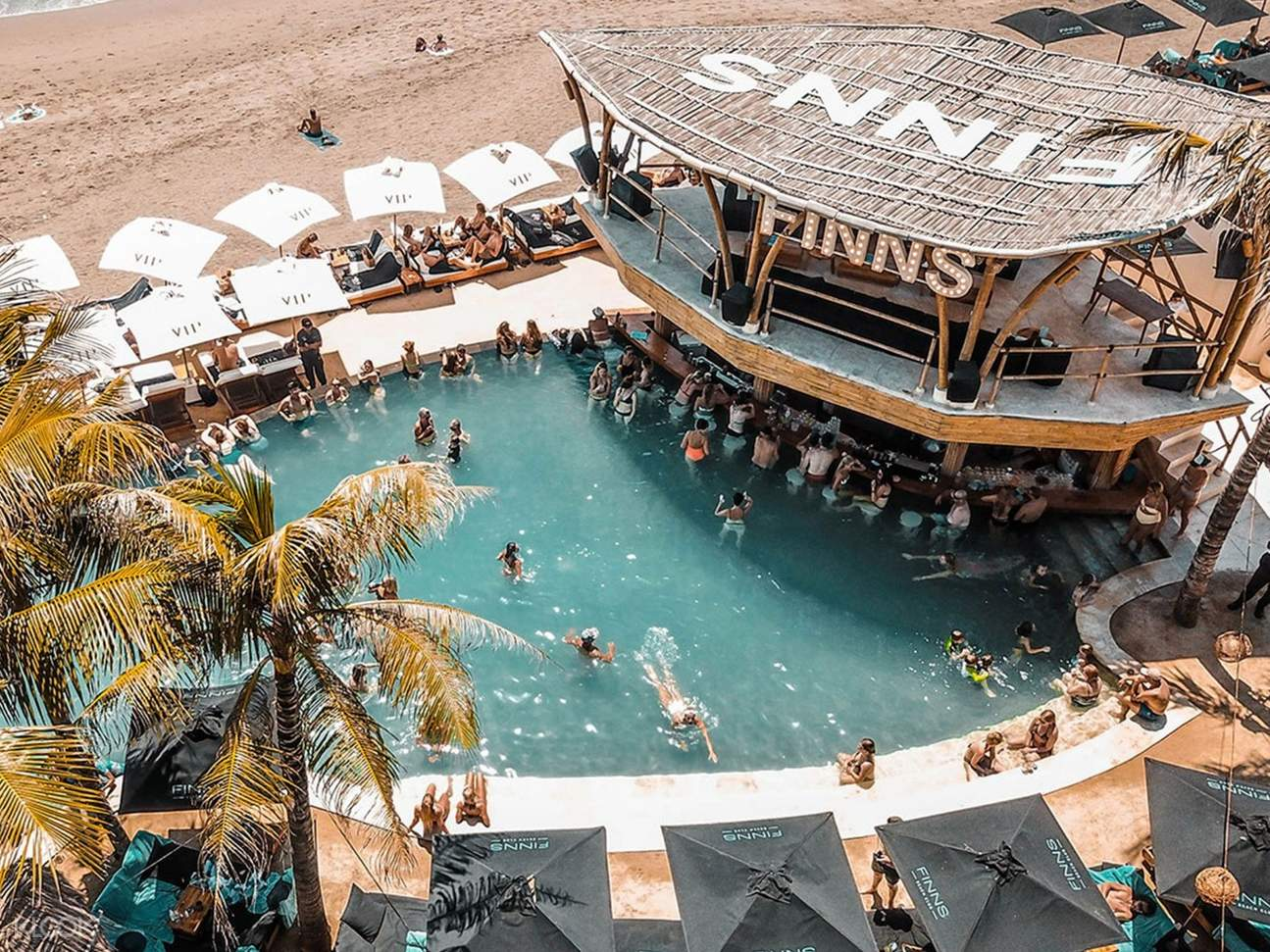 top view of the beach club