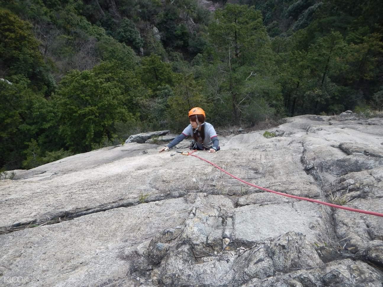 Konpira Yama rock climbing