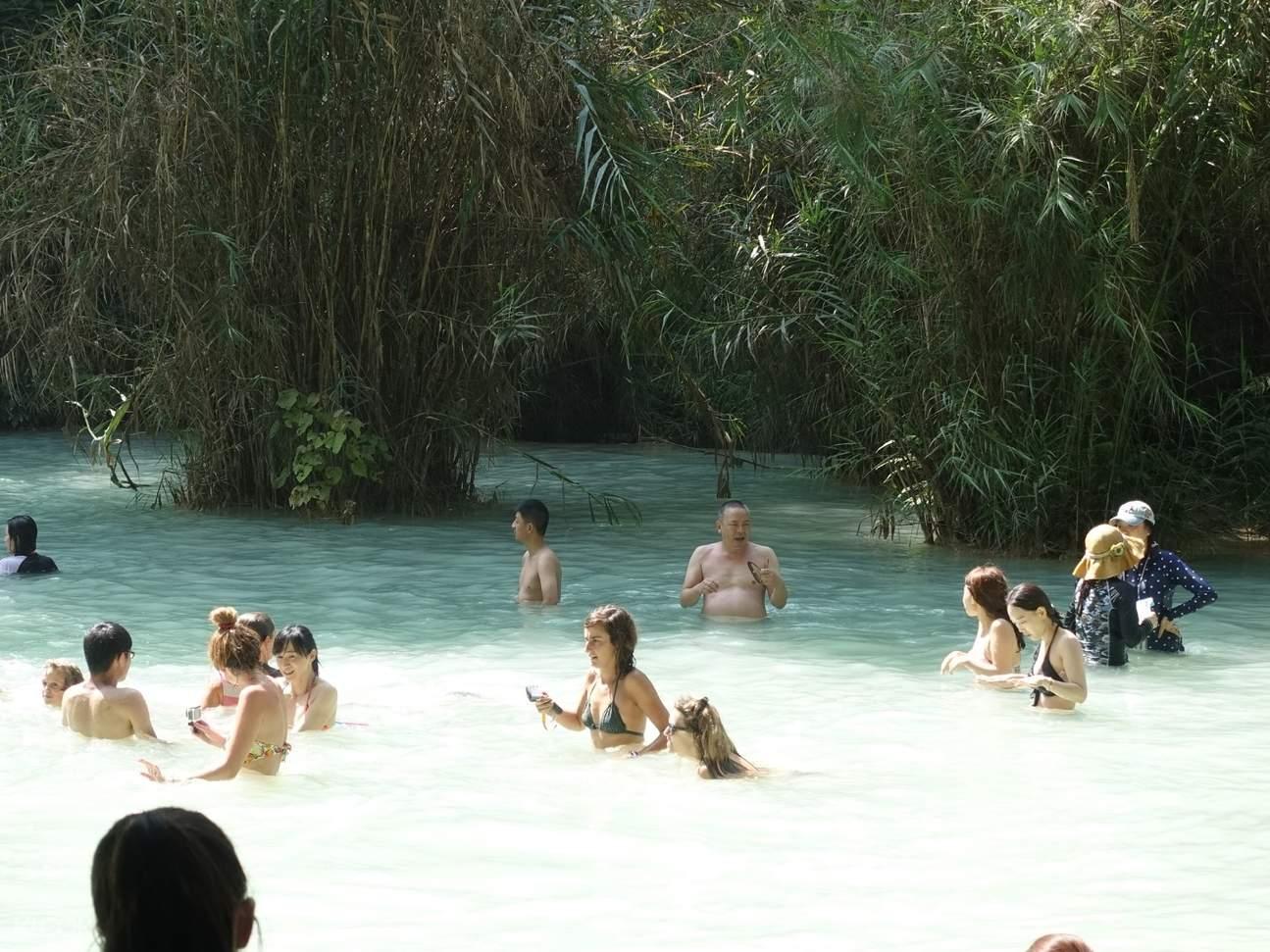 Swimming Kuang Si Waterfall