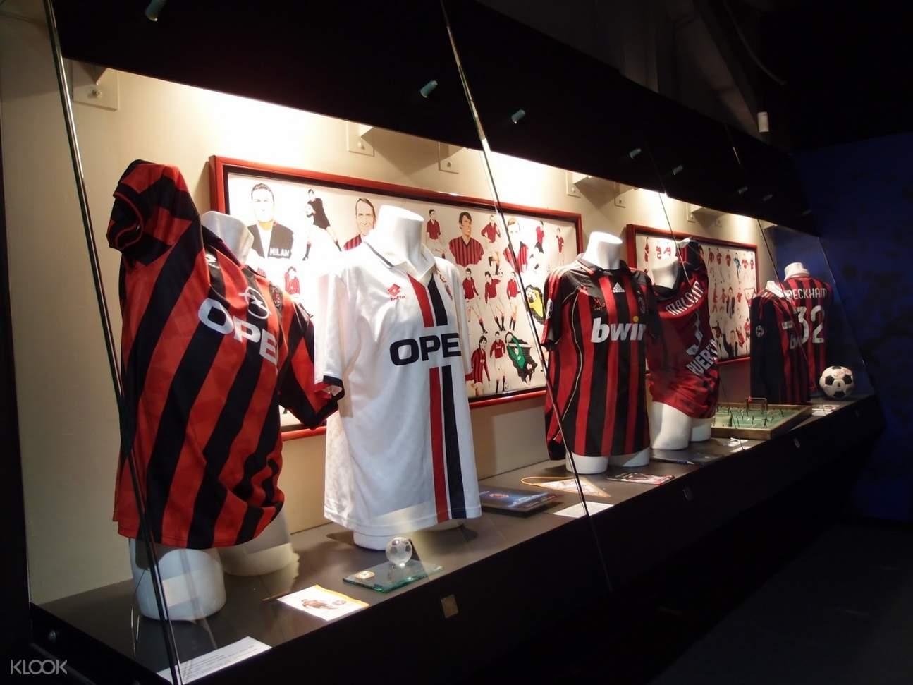 jersey exhibit in san siro stadium milan