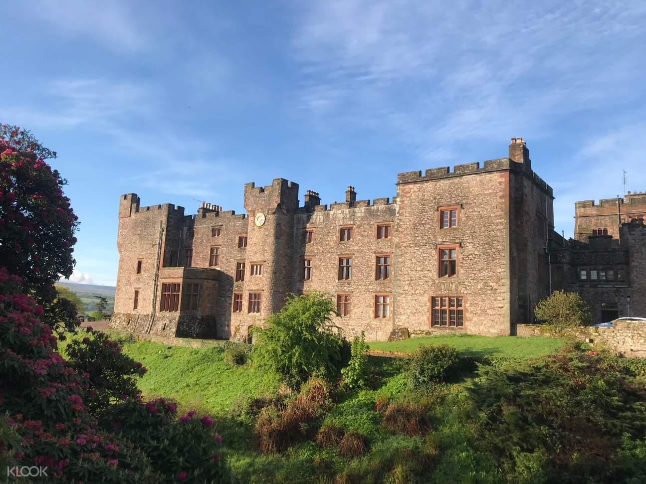 front view of muncaster castle