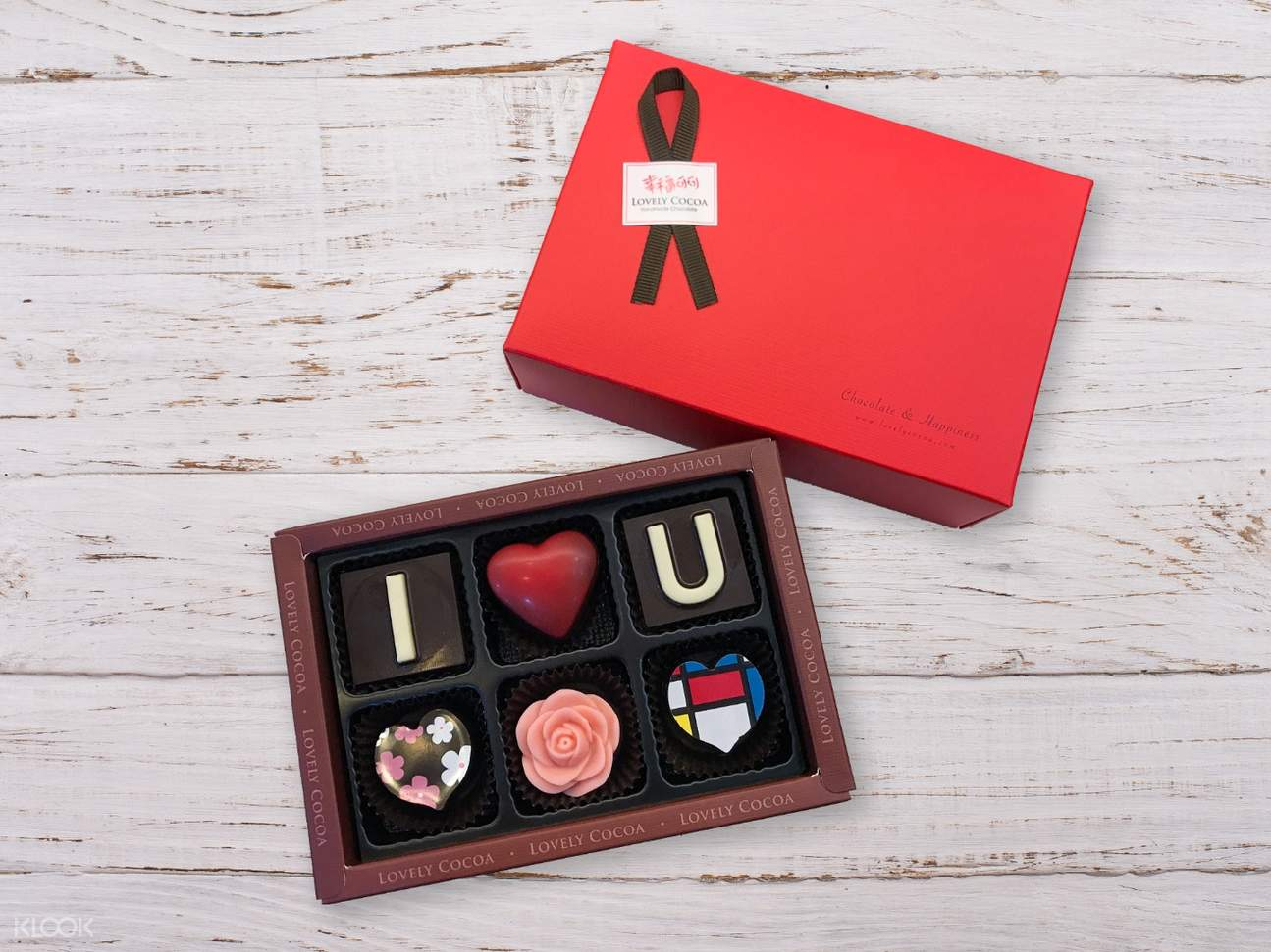 Lovelycocoa chocolate gift box 6 pieces