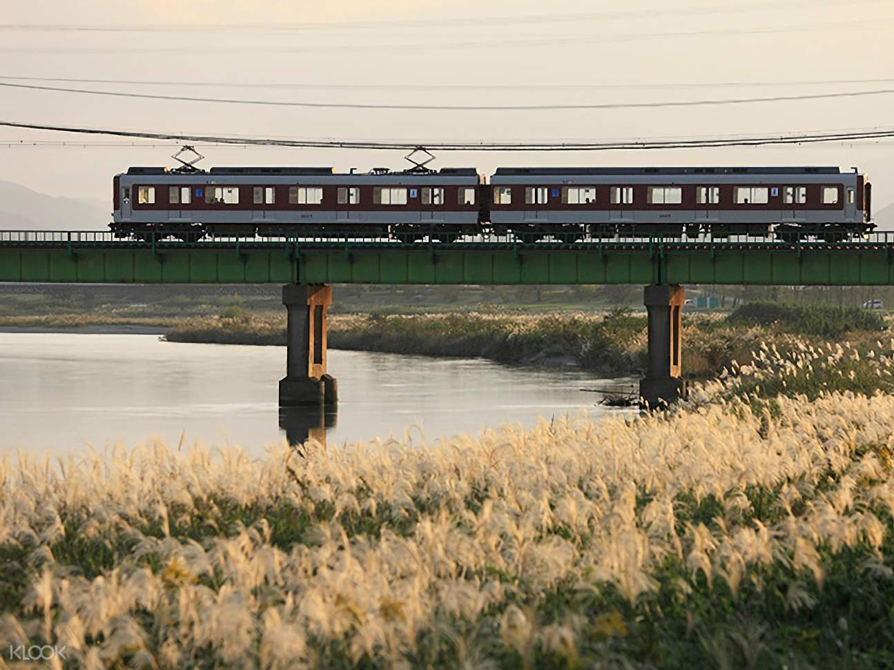Kintetsu Railway with view of river underneath