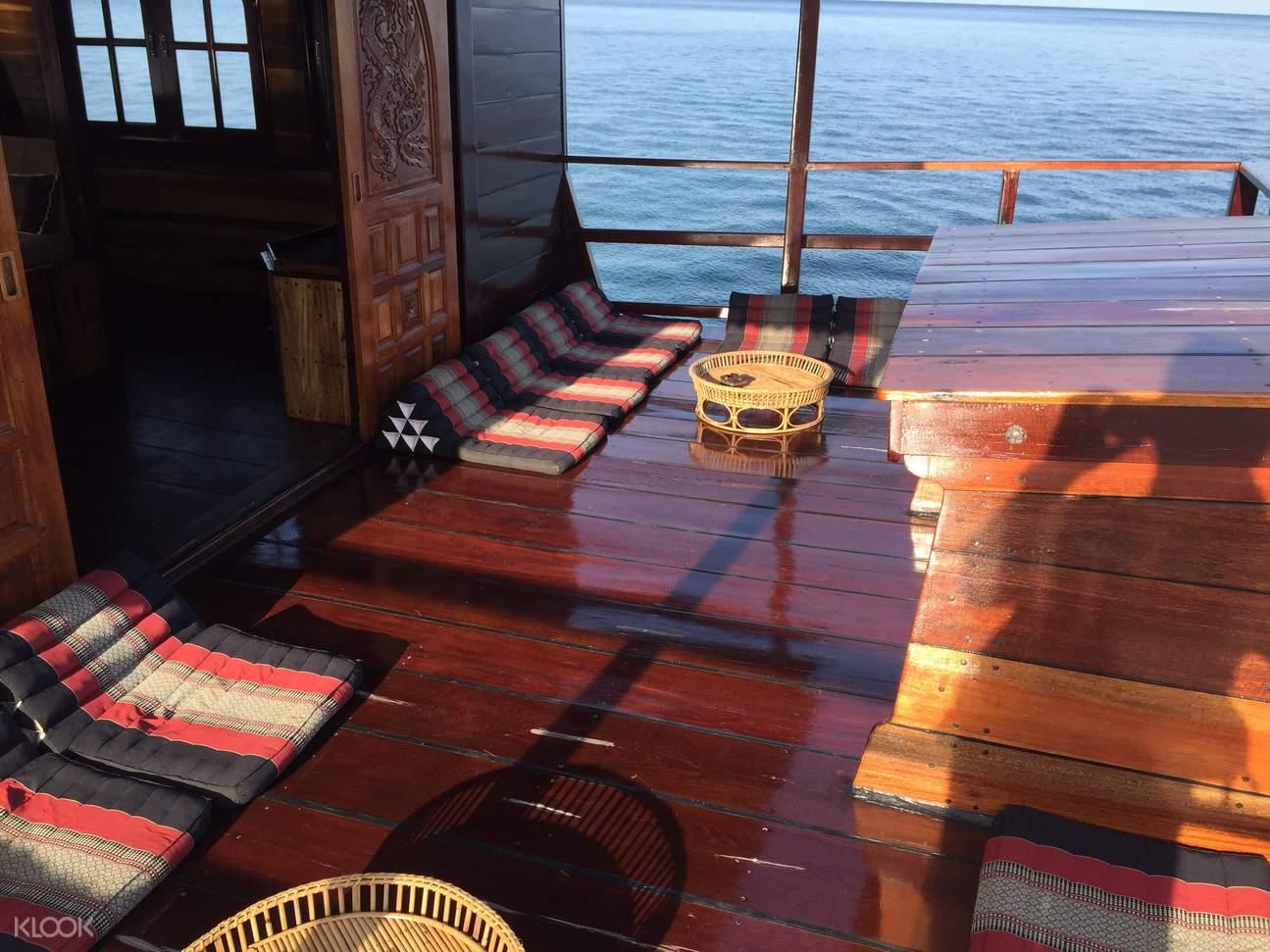 koh samui cruise junk deck