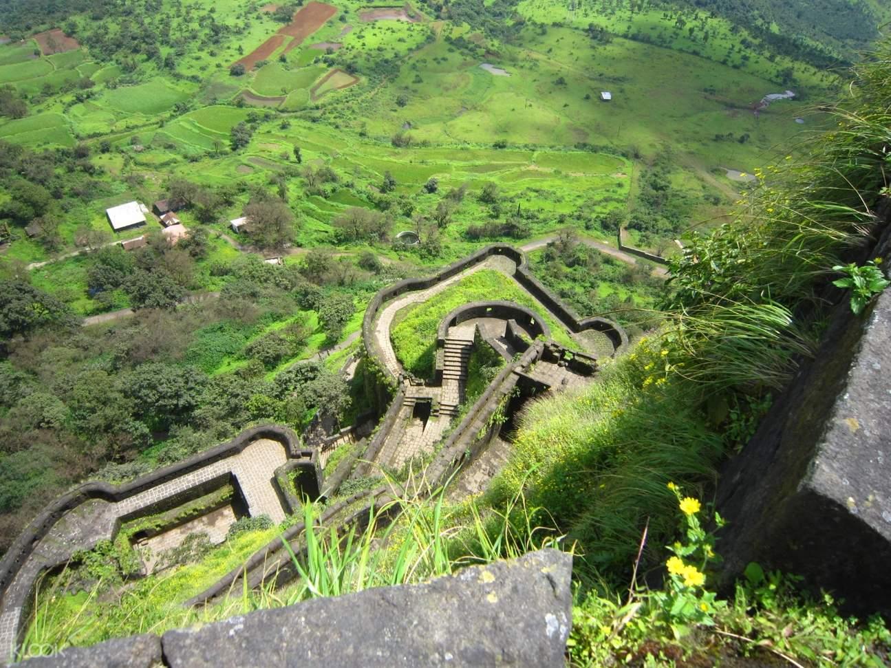 bird's eye view of lohagad fort