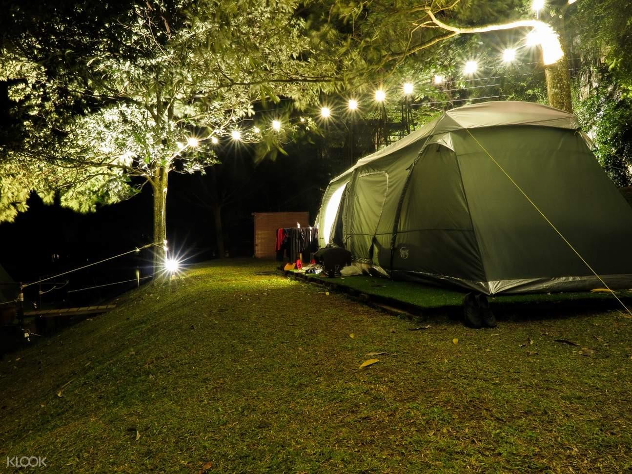 glamping tent in lost world of tambun