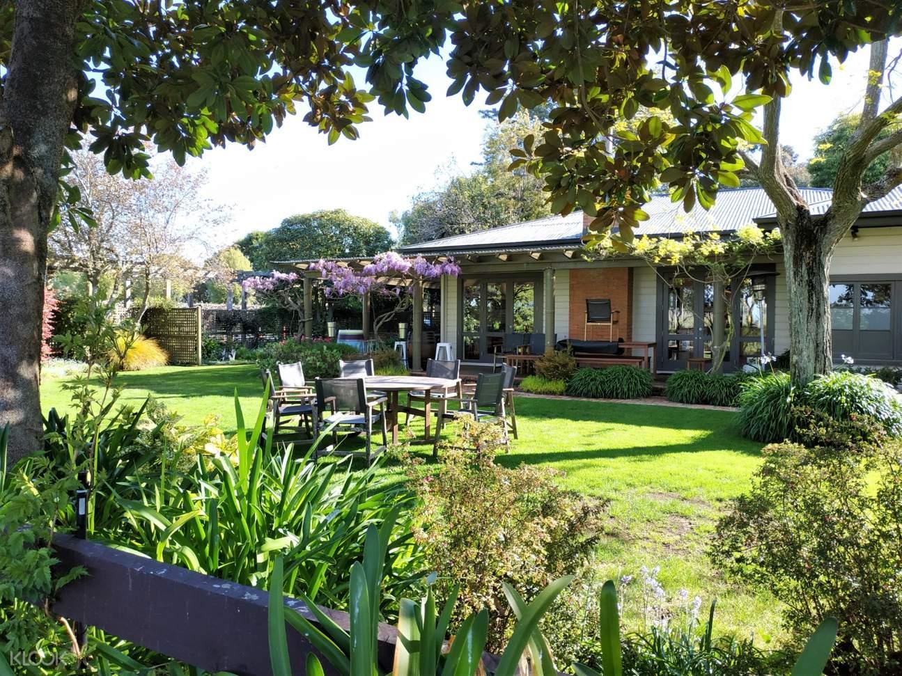 winery garden in marlborough