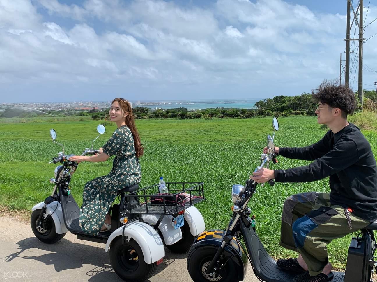 EV trike in Okinawa