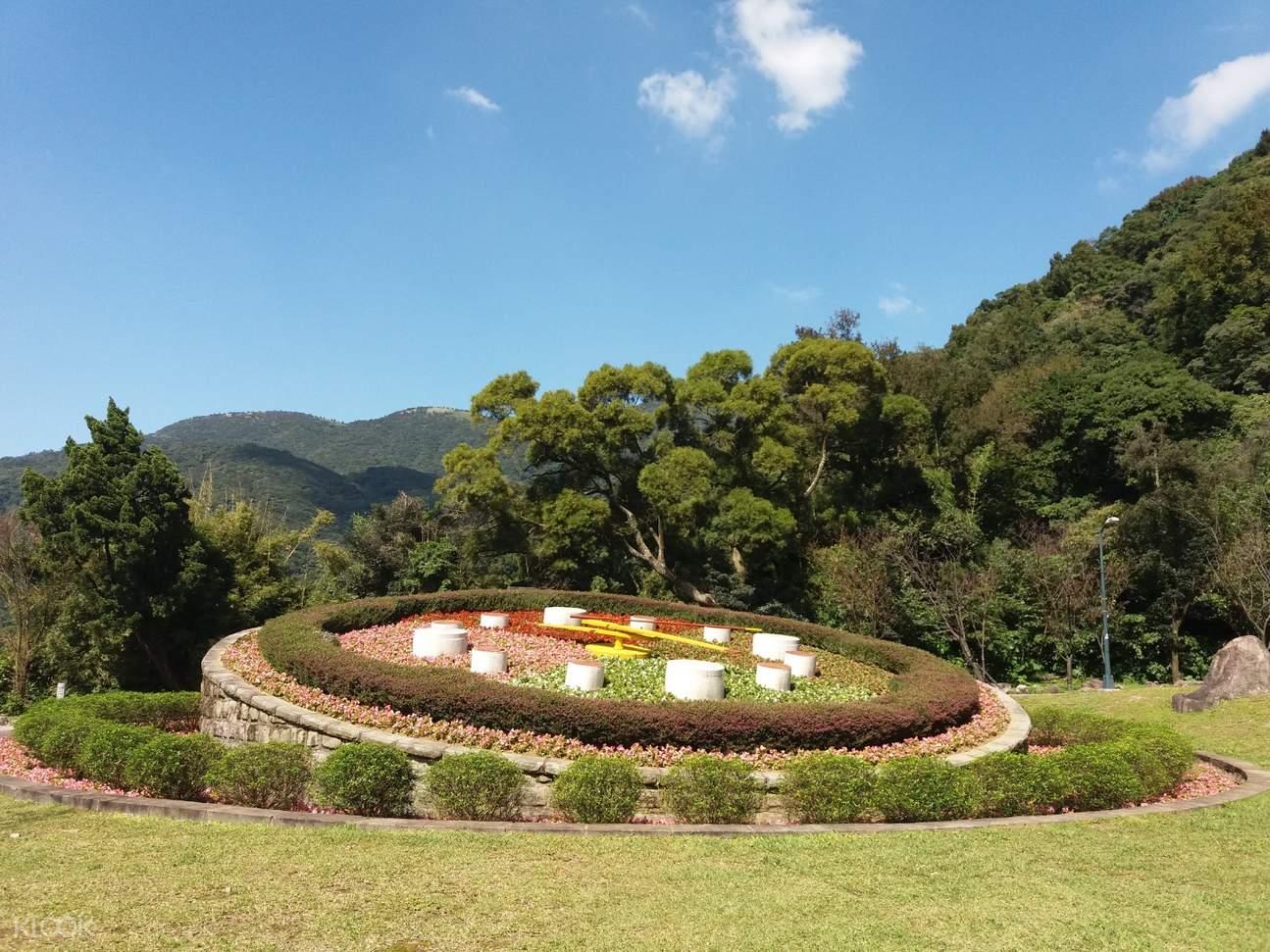 陽明山国家公園の花時計。