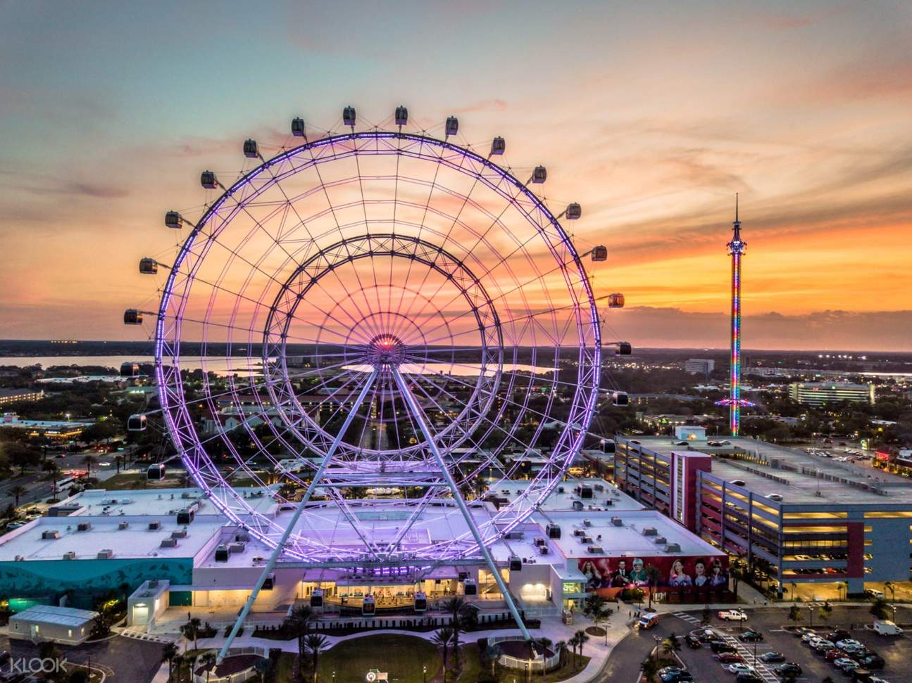 a view of The Wheel at ICON Park™