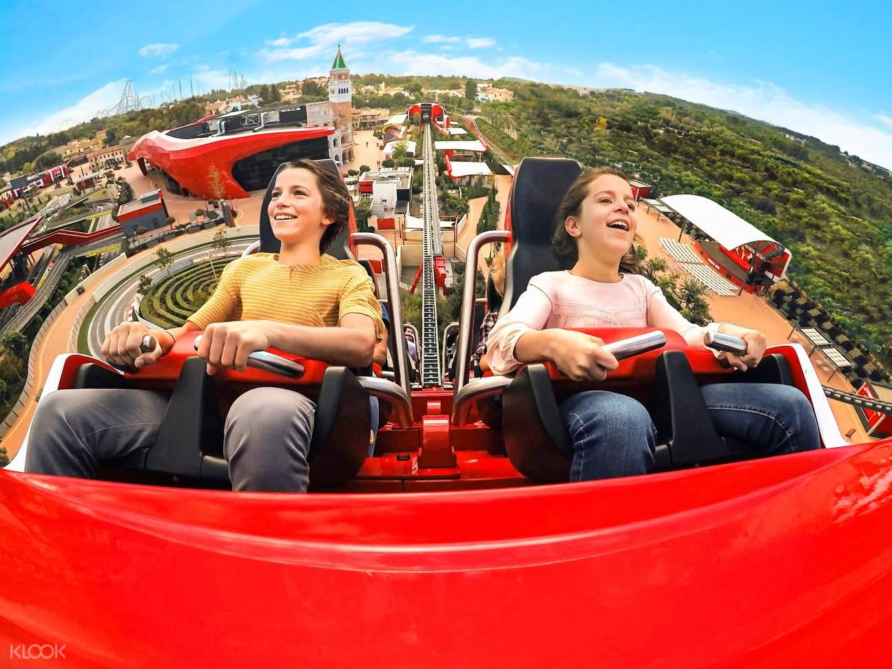 roller coaster for Ferrari Land