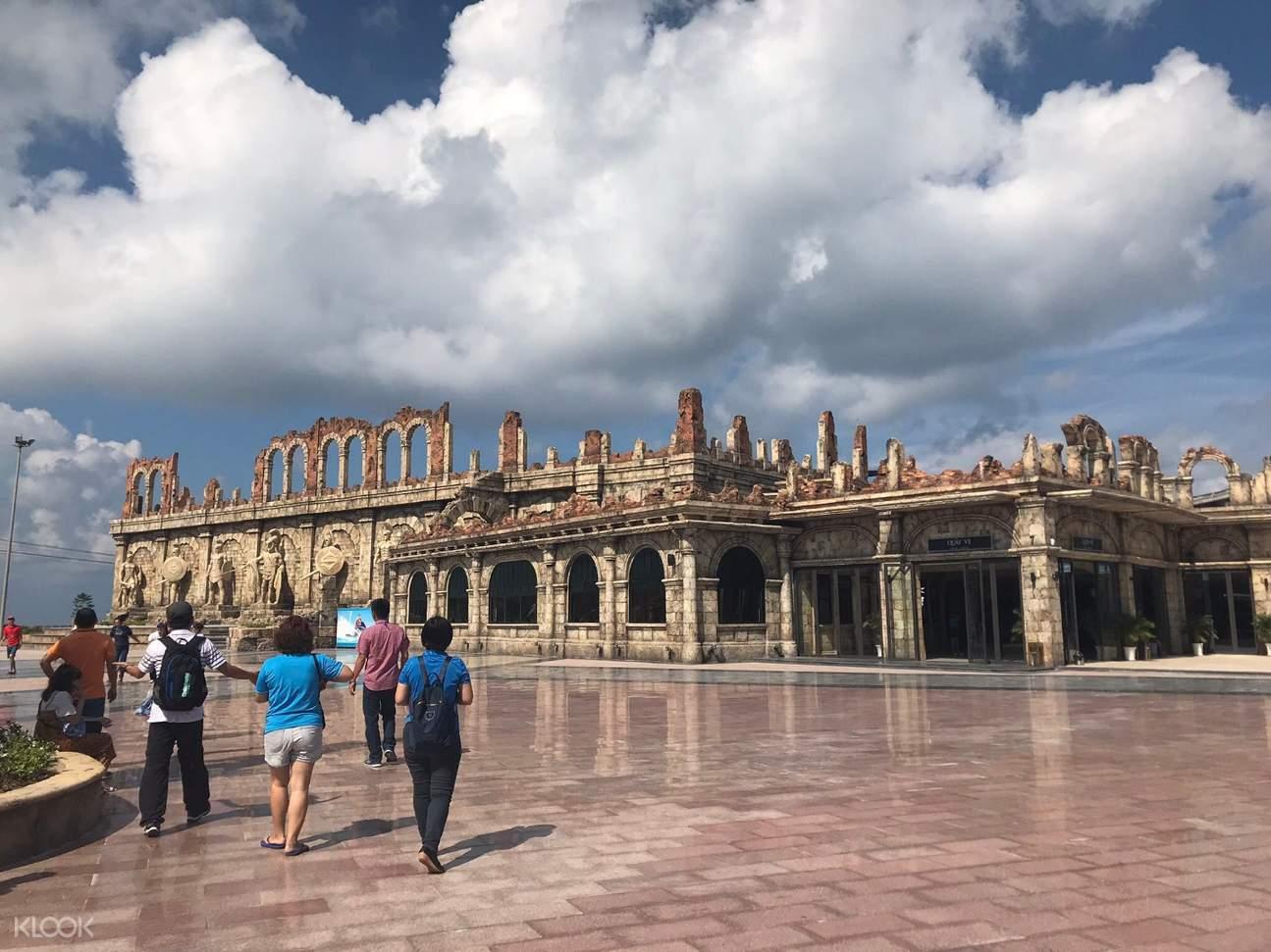 building facade ruins in vietnam