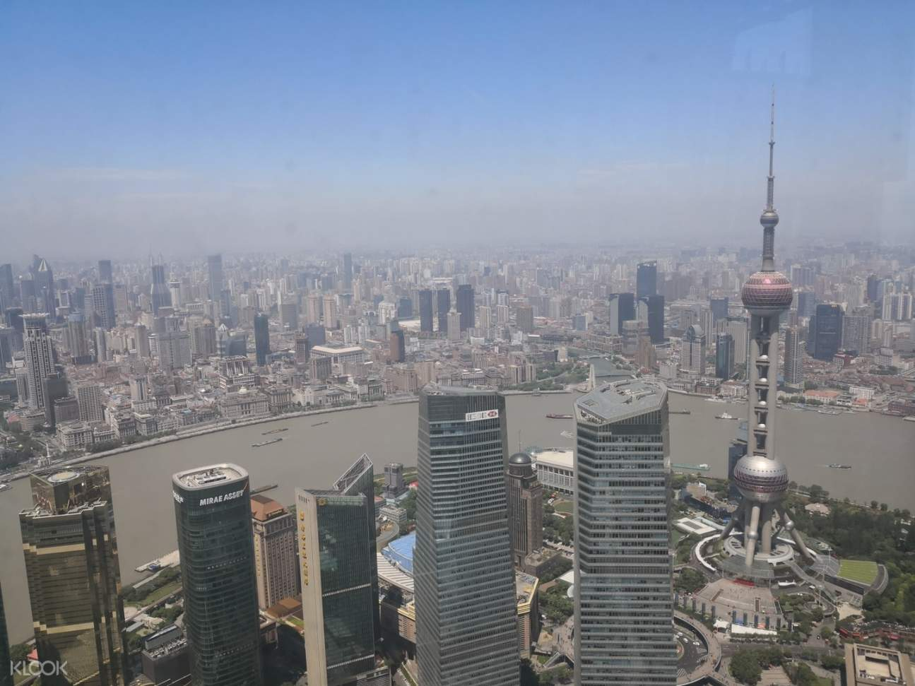 view of shanghai from above
