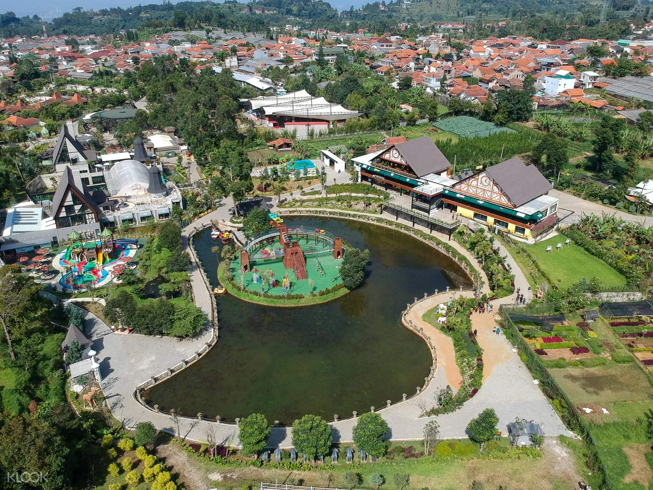 a panoramic view of the Lembang Park and Zoo