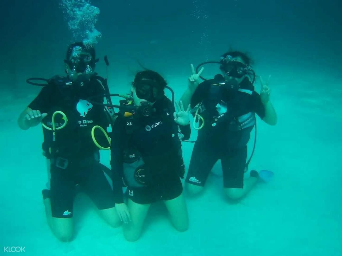 scuba diving experience in raya island