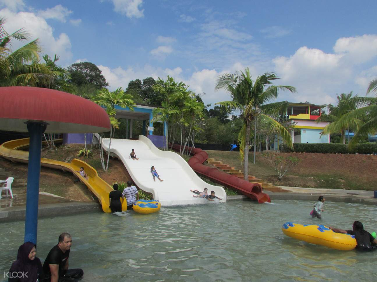 people on floaties