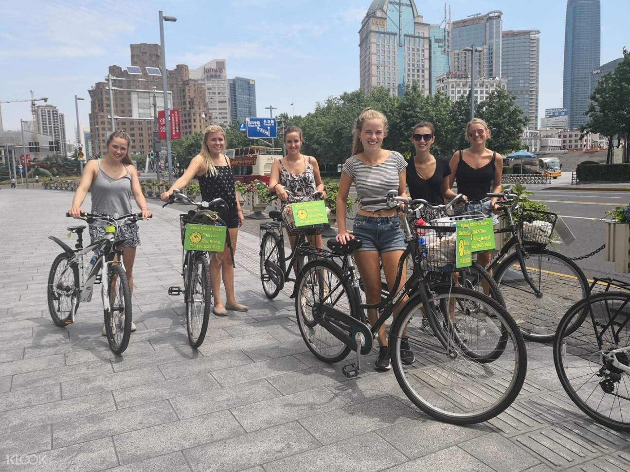 tour group on a bike in shanghai
