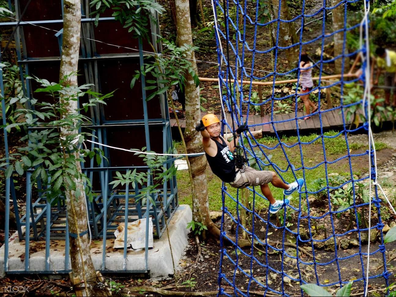tony hawk tree top rope courses chocolate hills adventure park bohol