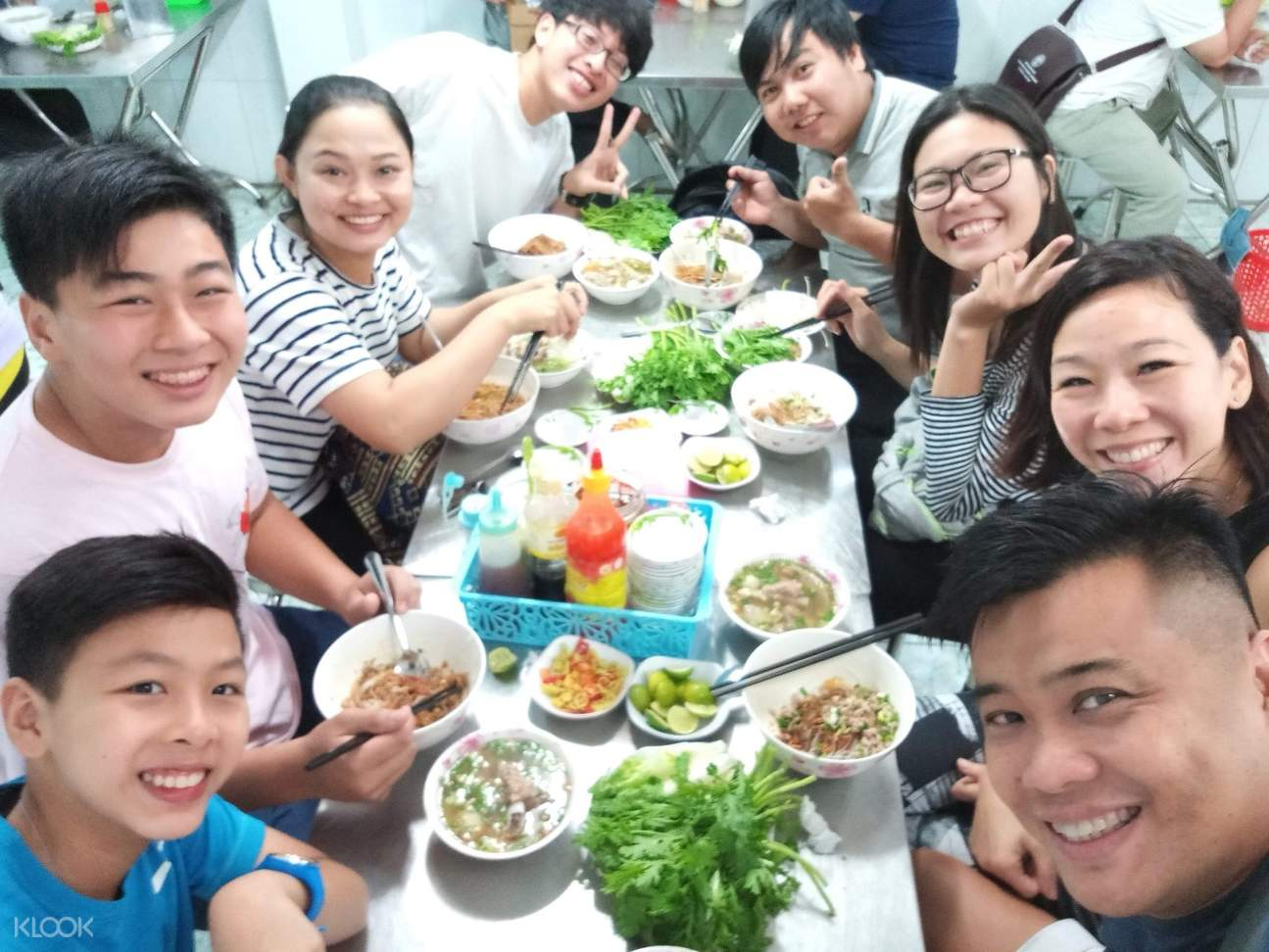 people enjoying their meal in saigon