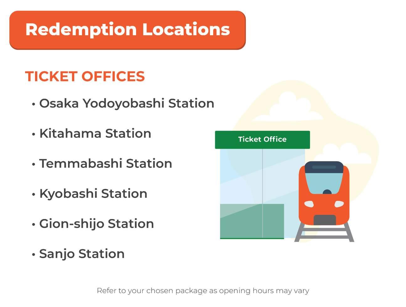 京都 大阪觀光乘車券兌換地點