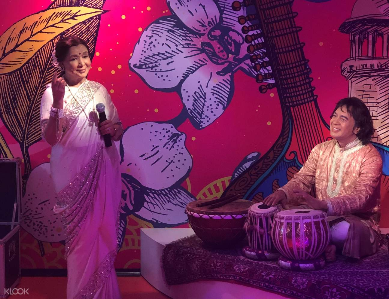 famous scene in madame tussauds delhi