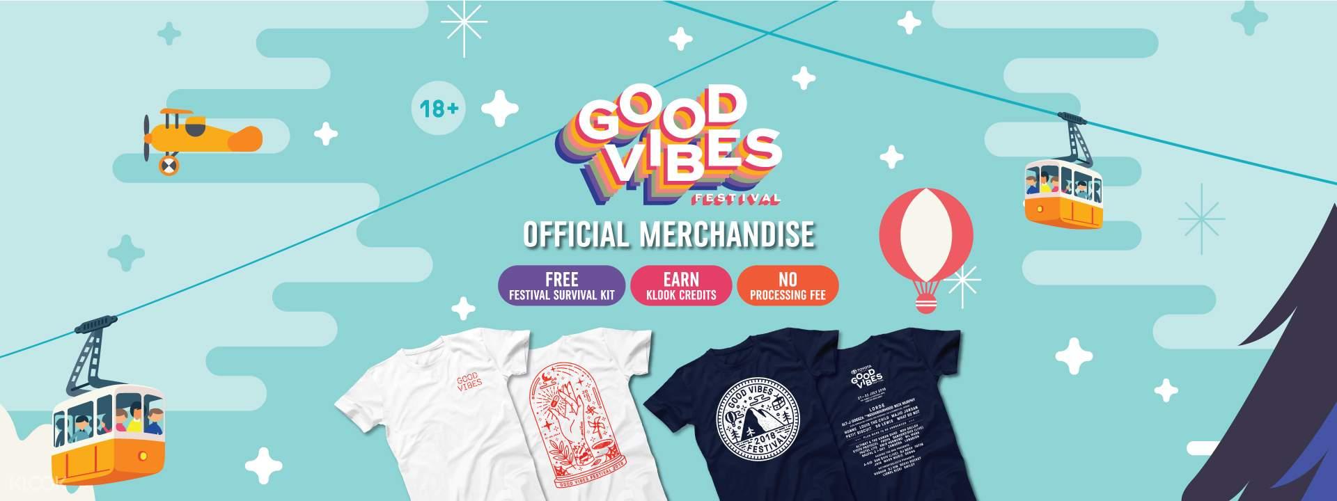 Good Vibes Festival 2018 Exclusive T Shirt Pre Order Kuala Lumpur Sorban Long Black Log In