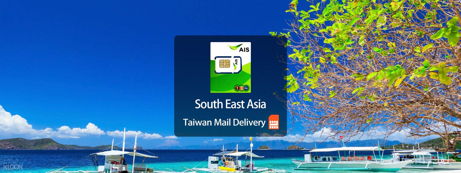 AIS 4G Data SIM Card (Taiwan Home Delivery) for Southeast