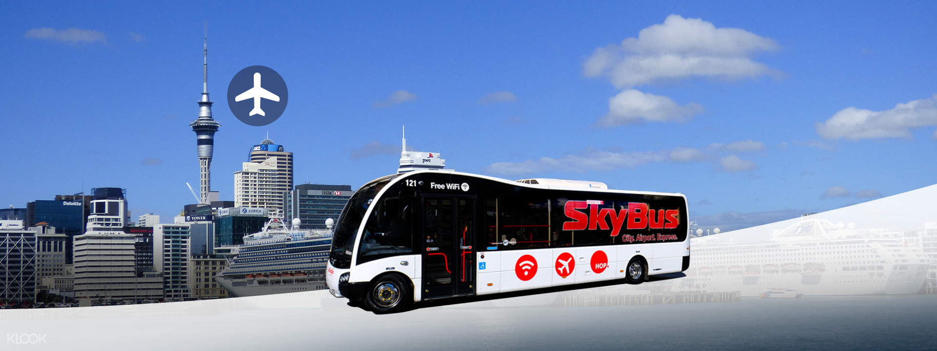 SkyBus Auckland Airport Express One Way/Round Trip Tickets