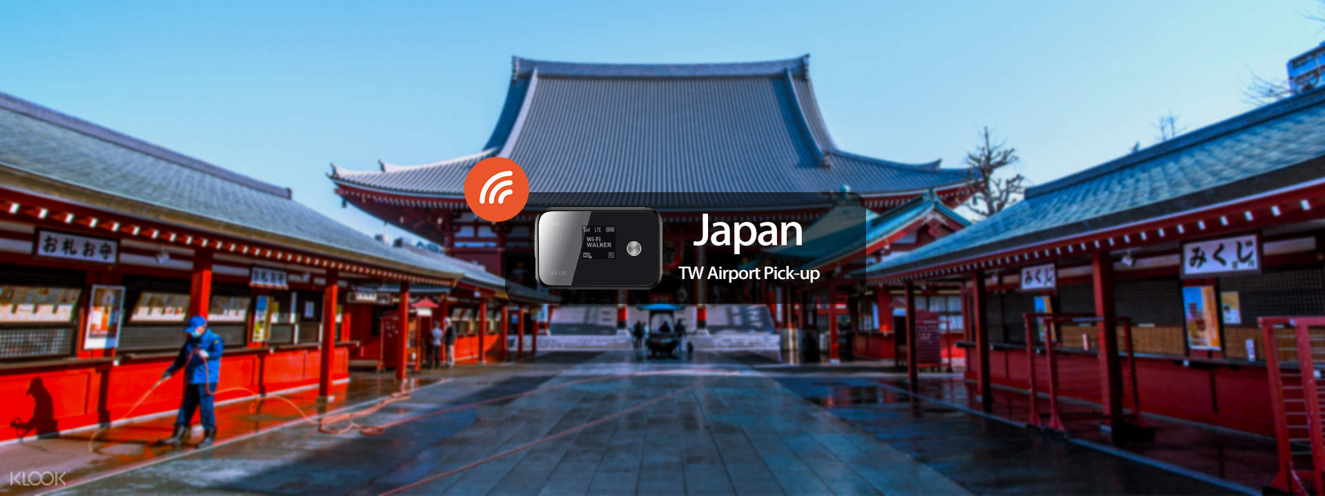 4G LTE WiFi (TW Airport Pick Up) for Japan - Klook