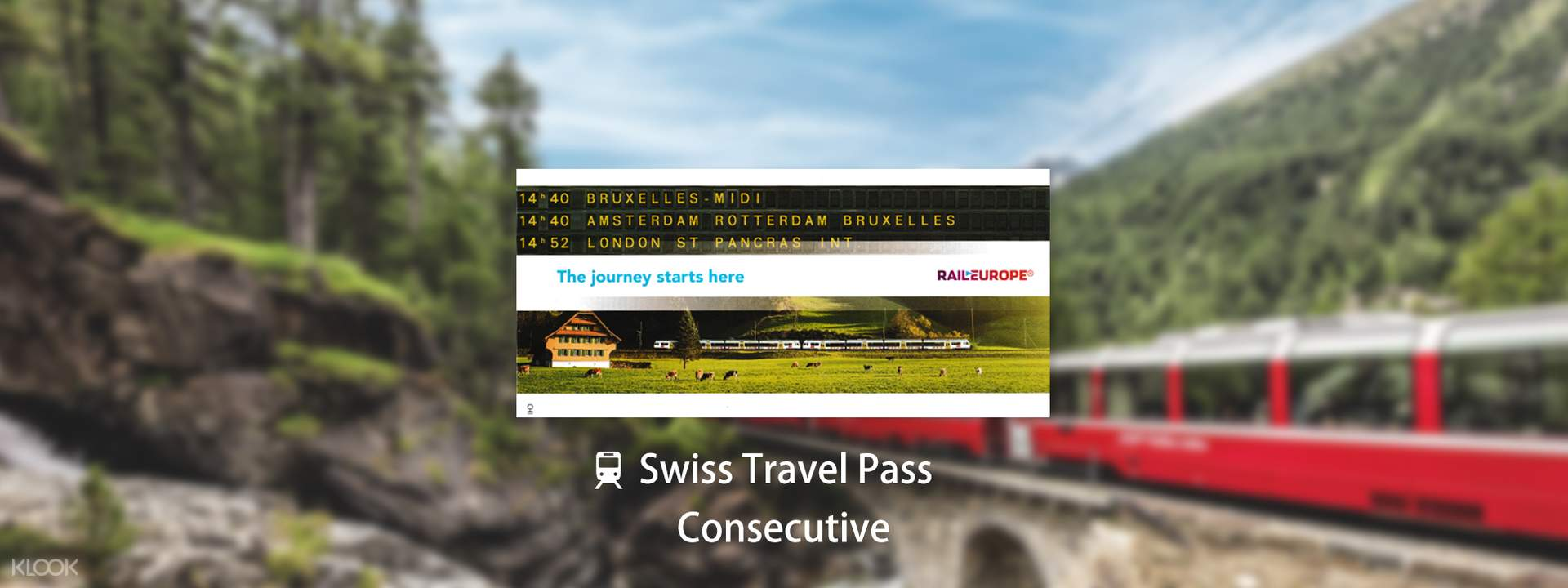 Swiss Travel Pass (Consecutive 3, 4, 8 or 15 Days) in