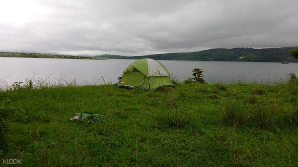 tent beside the lake
