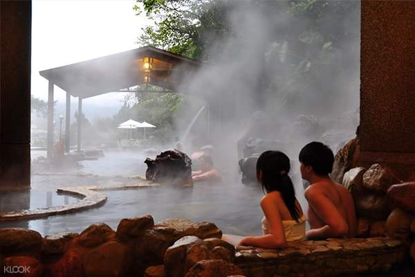 women in hot spring