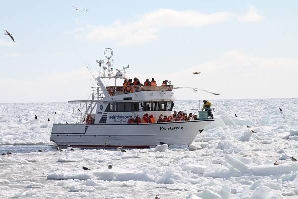 日本 北海道 知床国立公园 Evergreen观光船