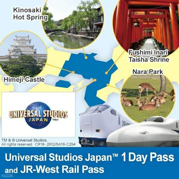 jr pass west kansai universal studios japan combo