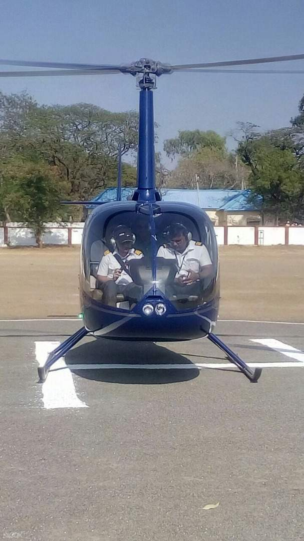 perjalanan helikopter di pune