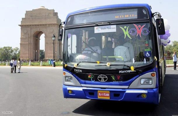 hop on hop off bus tour in delhi