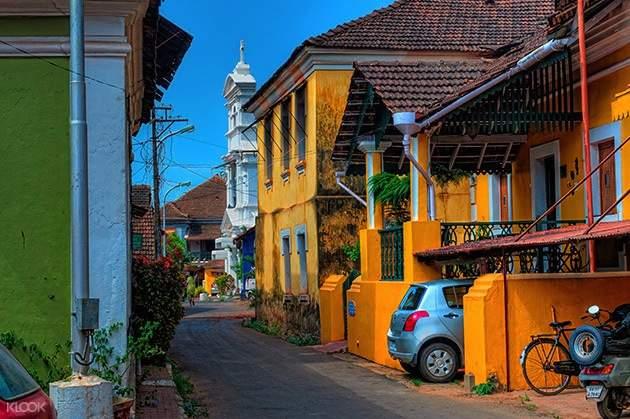 印度 果阿邦徒步之旅 帕纳吉街道