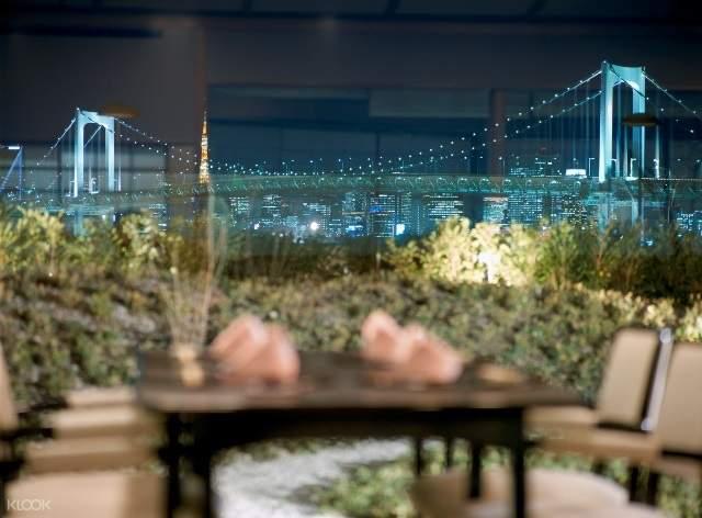 Tokyo Bay views from Sakura Japanese Restaurant