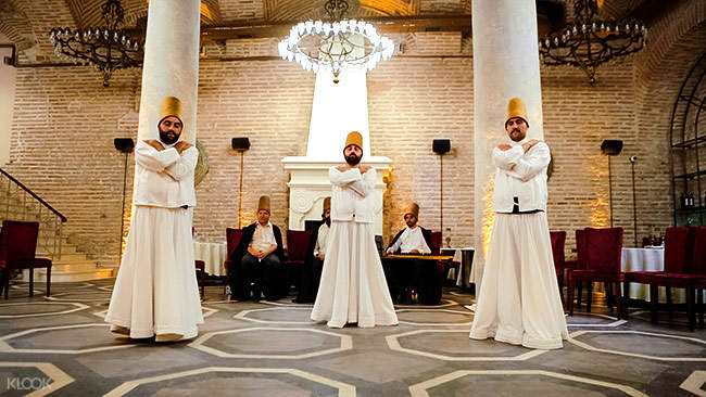 dervish performance accompanied by music