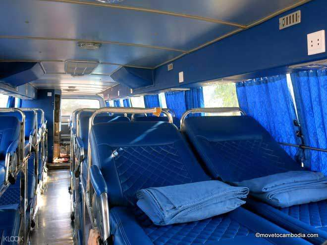 interior of night bus of Giant Ibis bus transfer