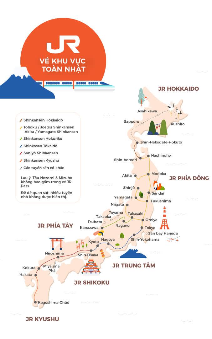 whole japan rail pass mapp